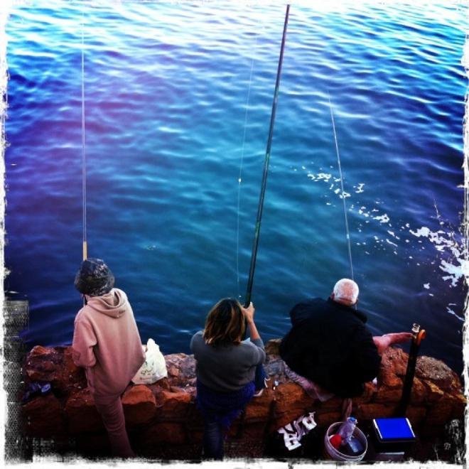Fishing, a sport and sometimes meditation from the heart of Beirut.